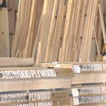 Bundle of wood in Warehouse